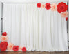 "24"" Giant Real Touch Red Artificial Foam Paper Craft Rose DIY 3D Artificial Flowers For Wedding Room Wall Decoration - 2 PCS"