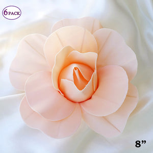 Flash sale 20 off sold out 8 large real touch blush artificial foam paper craft rose diy 3d artificial flowers for mightylinksfo