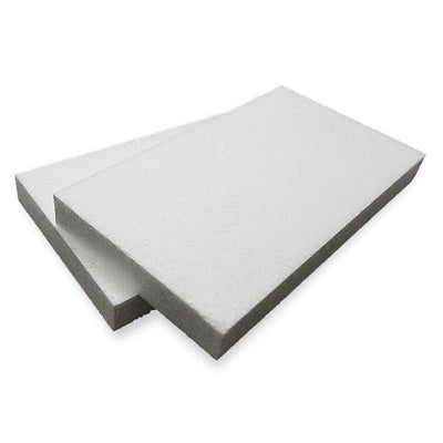 "7""x12"" Wholesale White Styrofoam Foam Rectangle Flats DIY Crafts Decoration - 12pcs"