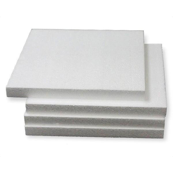"12"" Wholesale White Styrofoam Foam Square Flat DIY Crafts Decoration - 12pcs"