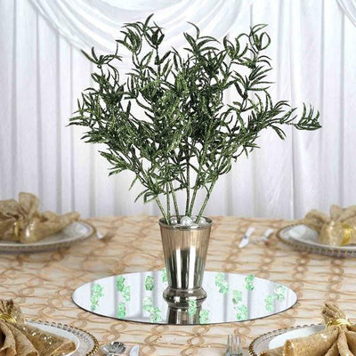 12 Showcase Glitter Stems - Green