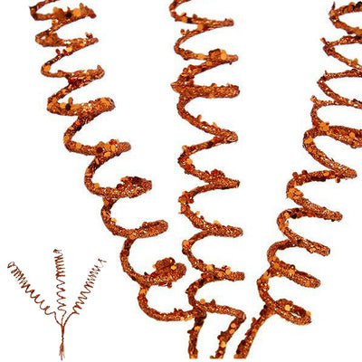 12 x Trio of Glittering Twisters - Copper