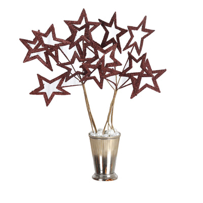6 x Fairy Godmother's Glittered 6-star Wand - Chocolate