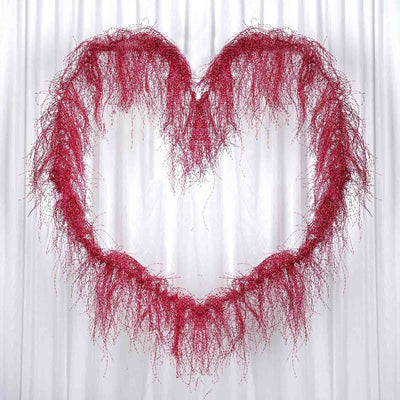 "3D Design Wire 40"" Garland Fushia Foil Grass"