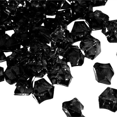 Black Acrylic Ice Rock Crystals Wedding Party Event Table Vase Decoration - 300/pk