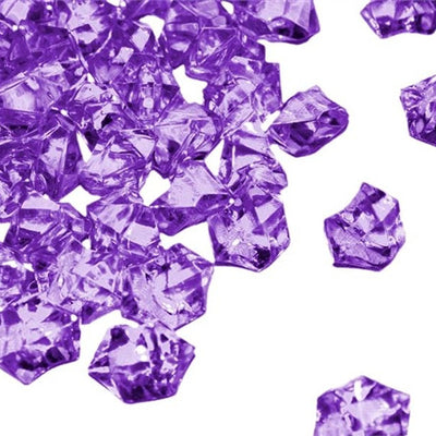 Purple Acrylic Ice Rock Crystals Wedding Party Event Table Vase Decoration - 300/pk