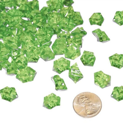 Apple Green Mini Acrylic Ice Rock Crystals Wedding Party Event Table Vase Decoration - 400/pk
