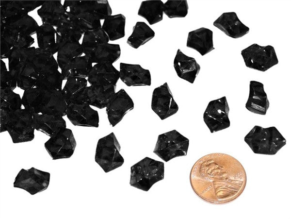 Black Mini Acrylic Ice Rock Crystals Wedding Party Event Table Vase Decoration - 400/pk
