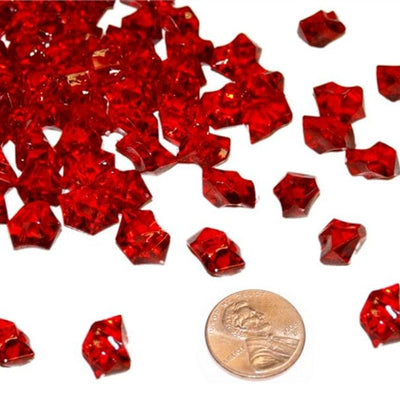 Burgundy Mini Acrylic Ice Rock Crystals Wedding Party Event Table Vase Decoration - 400/pk
