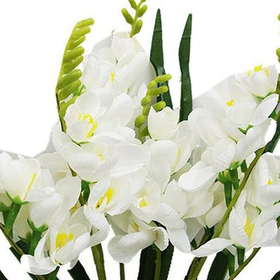 54 Artificial Freesia Flower Bushes Wedding Vase Centerpiece Decor - White