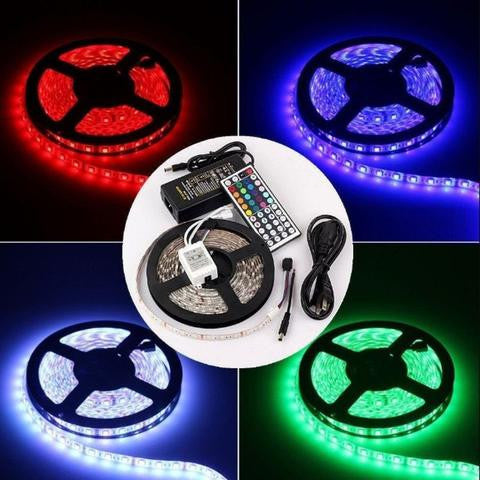 Wholesale 5M Long 300 Assorted LED Waterproof Strip Light 5050 + Remote