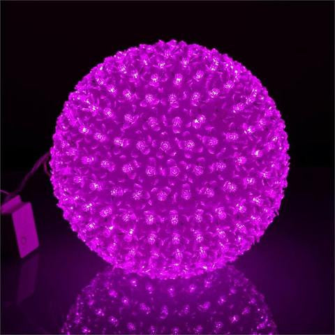300 LED Florescent Xmas Party Decorative Flower Ball Lamp Light - Fushia
