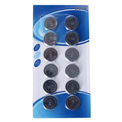 12 PCS 3V Lithium Batteries For Vase TeaLight Lanterns LED Lights - CR2016