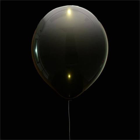 "12"" LED LIGHT UP THE NIGHT Latex Balloons 10/pk - White/Black"