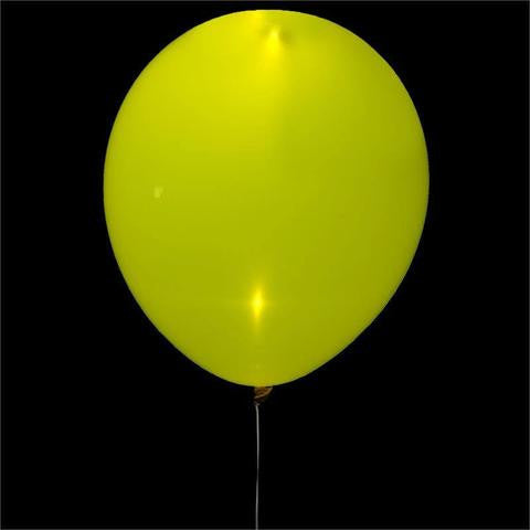 "12"" LED LIGHT UP THE NIGHT Latex Balloons 10/pk - White/Yellow"