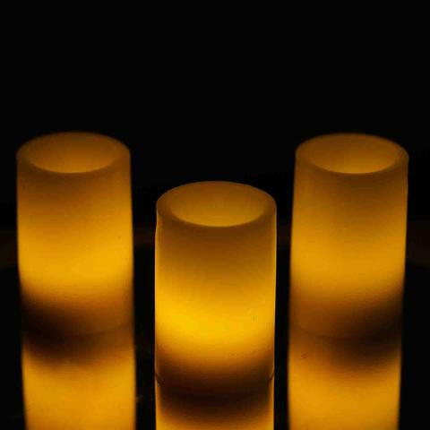 LED Votive Tea Light Candles Wedding Home Spa Party Venue Decor - 3/pk