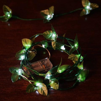 6FT 60 LED White Pre Lit Battery Operated Garland Fairy String Lights - 4 PCS