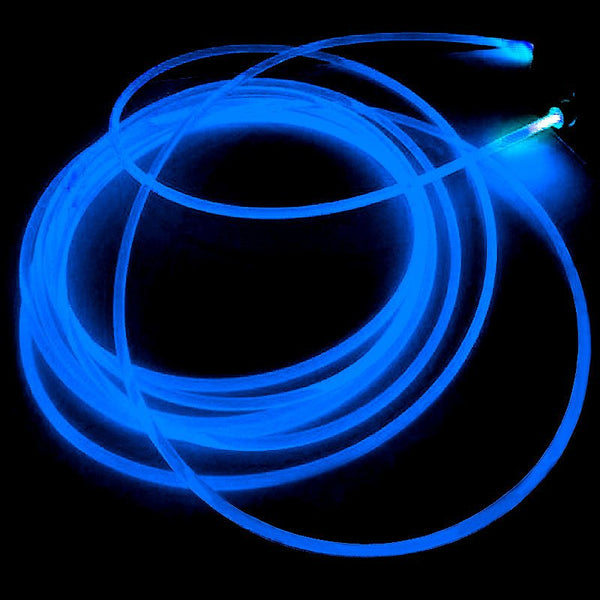 15FT Blue Sound Activated Neon LED Tube Rope Light Car Party Decoration