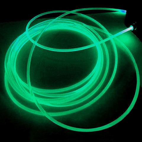 15FT Green Sound Activated Neon LED Tube Rope Light Car Party Decoration