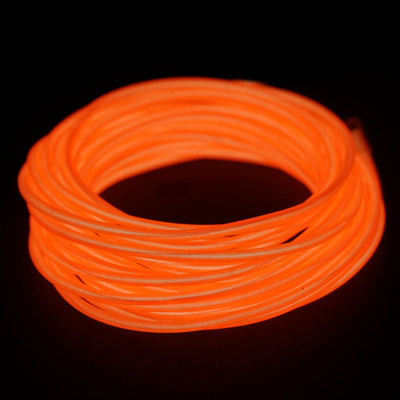 15ft orange sound activated neon led tube rope light car party 15ft orange sound activated neon led tube rope light car party decoration aloadofball Gallery