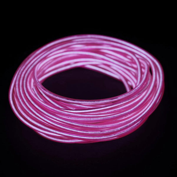 15FT Pink Sound Activated Neon LED Tube Rope Light Car Party Decoration