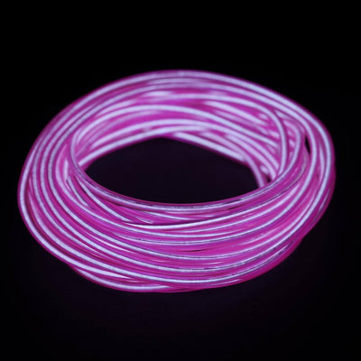 15FT Purple Sound Activated Neon LED Tube Rope Light Car Party Decoration