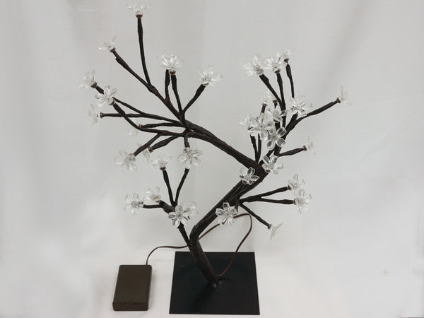 2 x Blooming Cherry Blossom LED Tree - White
