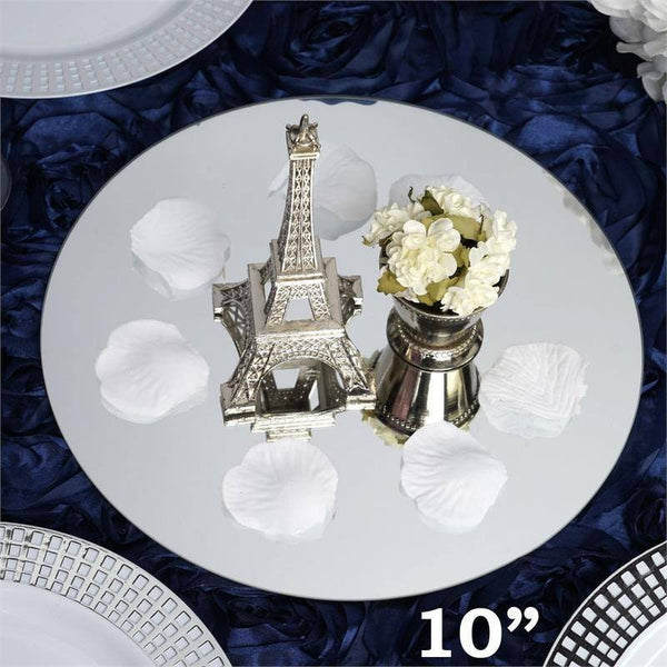 "10"" Round Glass Mirror Wedding Party Table Decorations Centerpieces - 6 PCS"