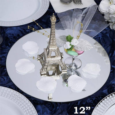 "12"" Round Glass Mirror Wedding Party Table Decorations Centerpieces - 4 PCS"