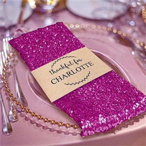 "20""x 20"" Premium Fushia Sequin Napkins For Wedding Reception Banquet Tableware"
