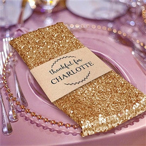 "20"" Premium Gold Sequin Napkin For Wedding Banquet Party Table Decoration"