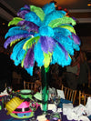 "13""-15"" Fabulous Natural Ostrich Feathers-12PCS - Turquoise"