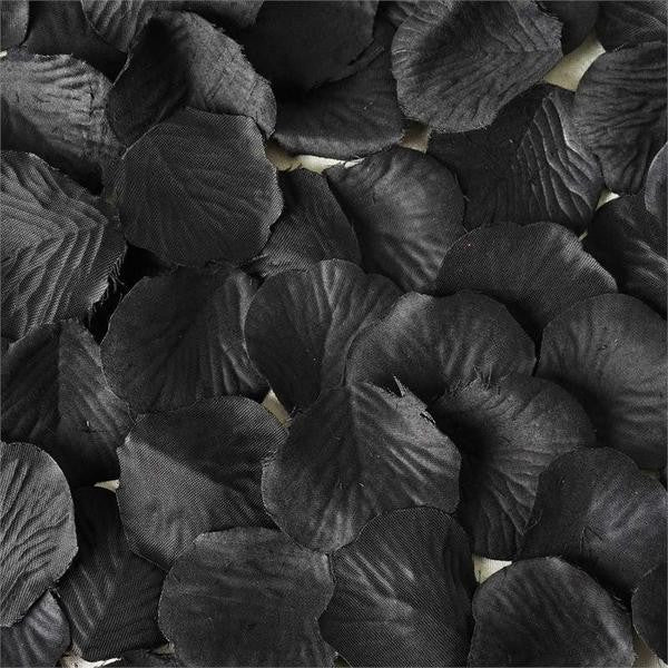 500 Silk Rose Petals For Wedding Party Table Confetti Decoration - Black