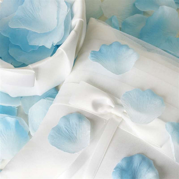 500 Silk Rose Petals For Wedding Party Table Confetti Decoration - Blue