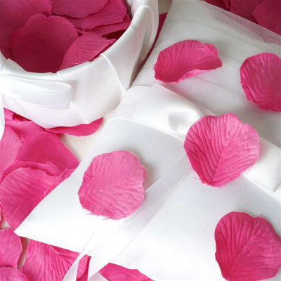 500 Silk Rose Petals For Wedding Party Table Confetti Decoration - Fushia