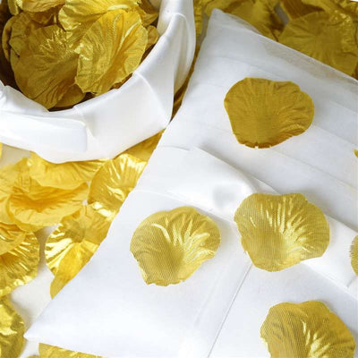 500 Silk Rose Petals For Wedding Party Table Confetti Decoration - Gold