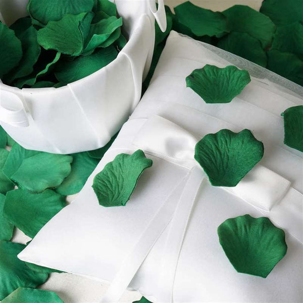 500 Silk Rose Petals For Wedding Party Table Confetti Decoration - Hunter Green