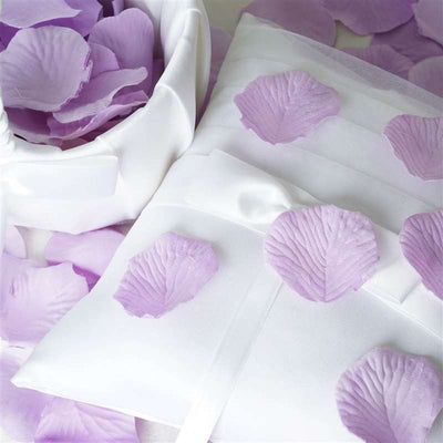 500 Silk Rose Petals For Wedding Party Table Confetti Decoration - Lavender