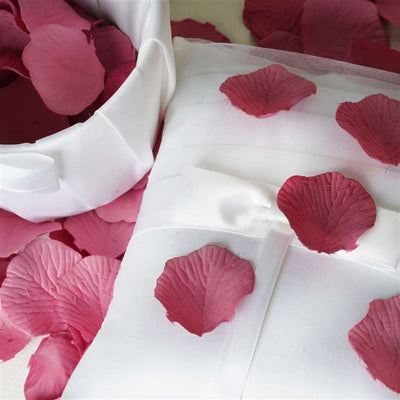 500 Silk Rose Petals For Wedding Party Table Confetti Decoration - Mauve