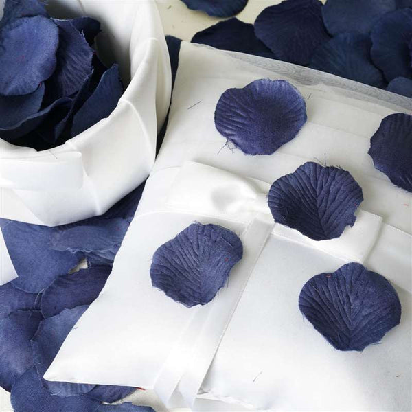 500 Silk Rose Petals For Wedding Party Table Confetti Decoration - Navy Blue