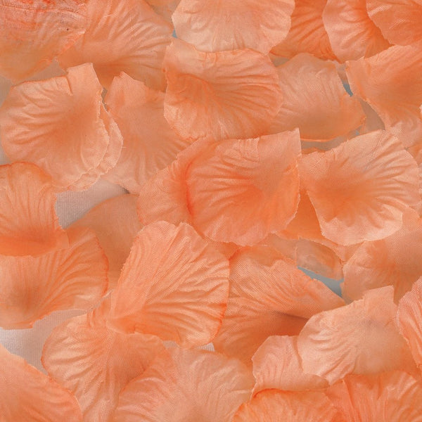 500 Silk Rose Petals For Wedding Party Table Confetti Decoration - Peach