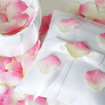 500 Silk Rose Petals For Wedding Party Table Confetti Decoration - Pink