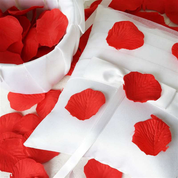 500 Silk Rose Petals For Wedding Party Table Confetti Decoration - Red
