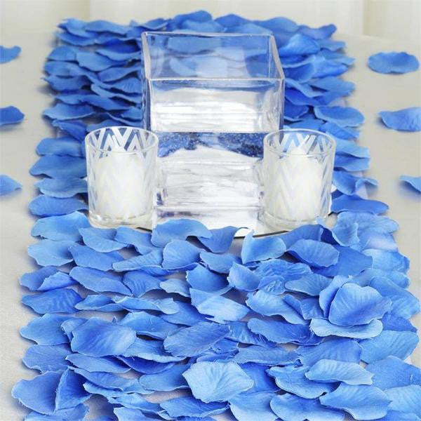 500 Silk Rose Petals For Wedding Party Table Confetti Decoration - Royal
