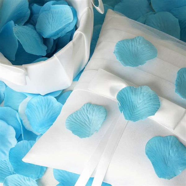 500 Silk Rose Petals For Wedding Party Table Confetti Decoration - Turquoise