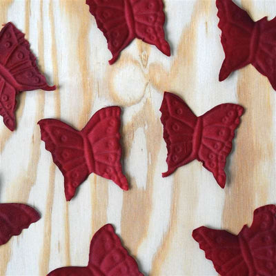 500 Pack Silk Butterfly Rose Petals - Burgundy