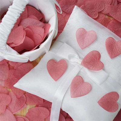 500 PCS Mauve Silk Heart Rose Petals Wedding Flower Decoration Vase Home Bridal Décor