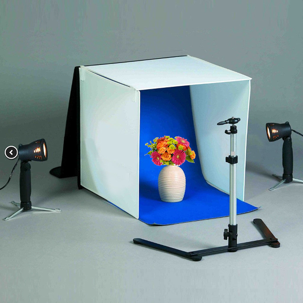 16u201d x 16u201d Table Top Photo Photography Studio Lighting Light Tent Kit in a Box & 16u201d Square Table Top Photo Photography Studio Lighting Light ...