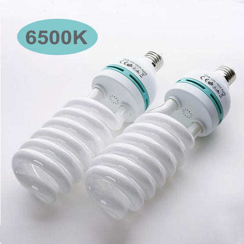 105 Watt Fluorescent Full Spectrum 6500K Daylight Balanced Light Bulb For Photography Video Home Lighting - Buy One Get One Free