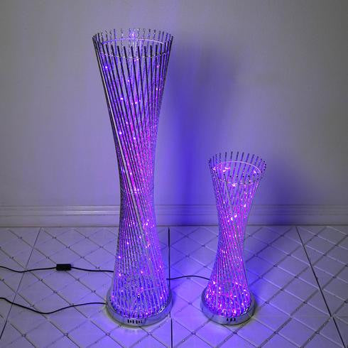 "24"" Color Changing  LED Spiral Metal Wedding Event Party Tower Columns - 1 PCS"